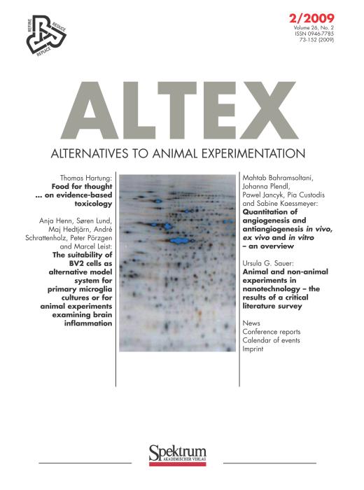Editorial | ALTEX - Alternatives to animal experimentation